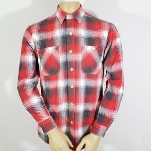 Polo Ralph Lauren Mens M Vtg Button Front Flannel